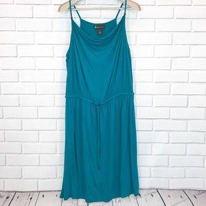 Lane Bryant Teal Sleeveless Dress Sz 14/16